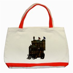 Steampunk Lock Fantasy Home Classic Tote Bag (Red)