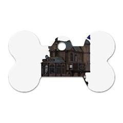 Steampunk Lock Fantasy Home Dog Tag Bone (One Side)