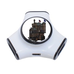 Steampunk Lock Fantasy Home 3-Port USB Hub