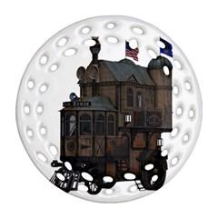 Steampunk Lock Fantasy Home Ornament (Round Filigree)
