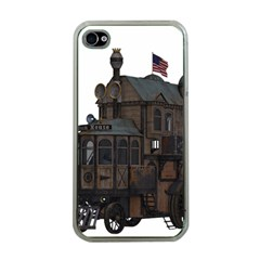 Steampunk Lock Fantasy Home Apple iPhone 4 Case (Clear)