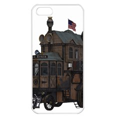 Steampunk Lock Fantasy Home Apple iPhone 5 Seamless Case (White)