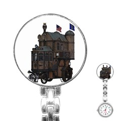 Steampunk Lock Fantasy Home Stainless Steel Nurses Watch