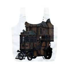 Steampunk Lock Fantasy Home Full Print Recycle Bags (M)