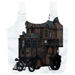 Steampunk Lock Fantasy Home Full Print Recycle Bags (L)