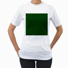 Texture Green Rush Easter Women s T-Shirt (White) (Two Sided)