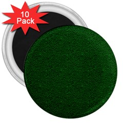 Texture Green Rush Easter 3  Magnets (10 Pack)