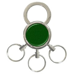 Texture Green Rush Easter 3 Ring Key Chains