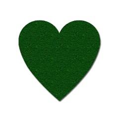 Texture Green Rush Easter Heart Magnet