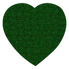 Texture Green Rush Easter Jigsaw Puzzle (Heart)