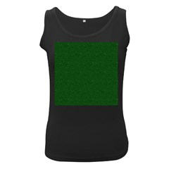 Texture Green Rush Easter Women s Black Tank Top