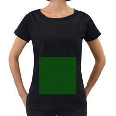 Texture Green Rush Easter Women s Loose-Fit T-Shirt (Black)