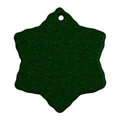 Texture Green Rush Easter Snowflake Ornament (Two Sides)
