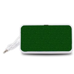 Texture Green Rush Easter Portable Speaker (White)