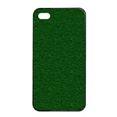 Texture Green Rush Easter Apple Iphone 4/4s Seamless Case (black)