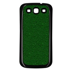 Texture Green Rush Easter Samsung Galaxy S3 Back Case (Black)