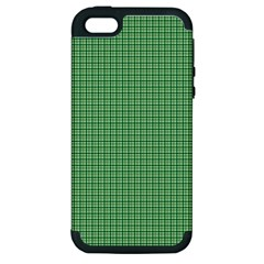 Green1 Apple iPhone 5 Hardshell Case (PC+Silicone)