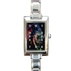 Abstraction Dive From Inside Rectangle Italian Charm Watch