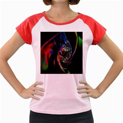 Abstraction Dive From Inside Women s Cap Sleeve T-Shirt