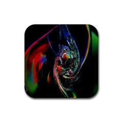 Abstraction Dive From Inside Rubber Square Coaster (4 pack)