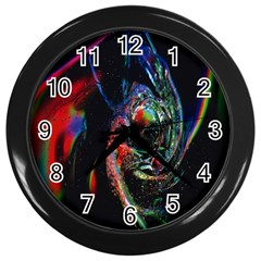 Abstraction Dive From Inside Wall Clocks (Black)