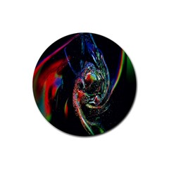 Abstraction Dive From Inside Rubber Round Coaster (4 Pack)