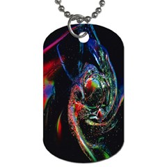 Abstraction Dive From Inside Dog Tag (Two Sides)