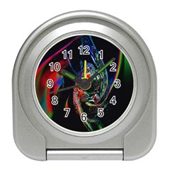 Abstraction Dive From Inside Travel Alarm Clocks