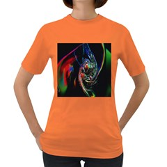 Abstraction Dive From Inside Women s Dark T-Shirt