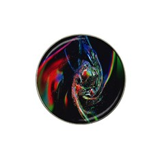 Abstraction Dive From Inside Hat Clip Ball Marker