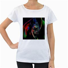 Abstraction Dive From Inside Women s Loose-Fit T-Shirt (White)