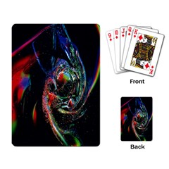 Abstraction Dive From Inside Playing Card