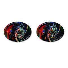 Abstraction Dive From Inside Cufflinks (Oval)