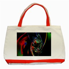Abstraction Dive From Inside Classic Tote Bag (red)