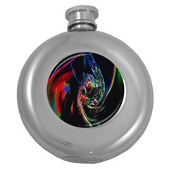 Abstraction Dive From Inside Round Hip Flask (5 oz)