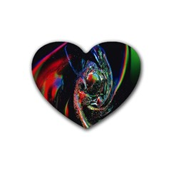 Abstraction Dive From Inside Heart Coaster (4 Pack)