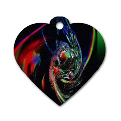 Abstraction Dive From Inside Dog Tag Heart (one Side)