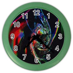 Abstraction Dive From Inside Color Wall Clocks
