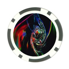 Abstraction Dive From Inside Poker Chip Card Guard