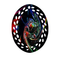 Abstraction Dive From Inside Oval Filigree Ornament (Two Sides)