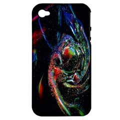 Abstraction Dive From Inside Apple Iphone 4/4s Hardshell Case (pc+silicone)