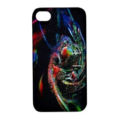 Abstraction Dive From Inside Apple Iphone 4/4s Hardshell Case With Stand