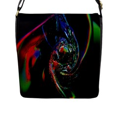 Abstraction Dive From Inside Flap Messenger Bag (l)