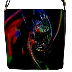 Abstraction Dive From Inside Flap Messenger Bag (S)