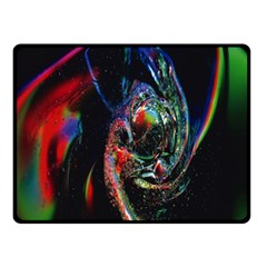 Abstraction Dive From Inside Double Sided Fleece Blanket (small)