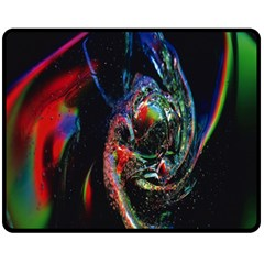 Abstraction Dive From Inside Double Sided Fleece Blanket (Medium)