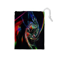 Abstraction Dive From Inside Drawstring Pouches (Medium)