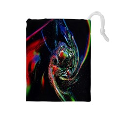Abstraction Dive From Inside Drawstring Pouches (Large)