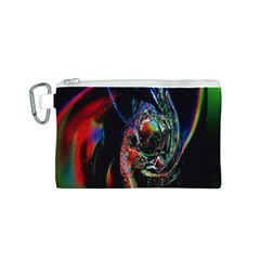 Abstraction Dive From Inside Canvas Cosmetic Bag (S)