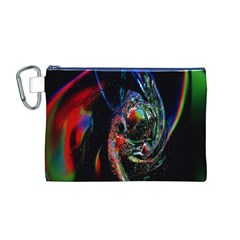 Abstraction Dive From Inside Canvas Cosmetic Bag (M)